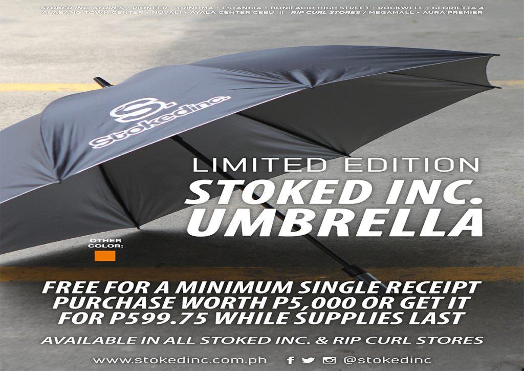 Free Stokedinc Umbrella